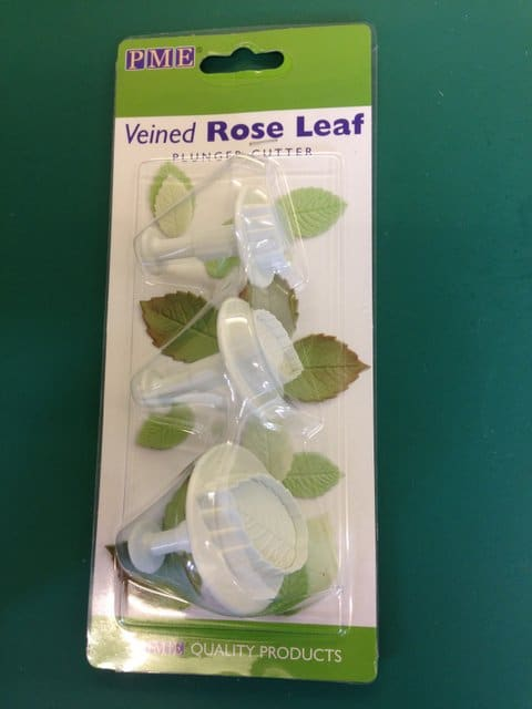 PME Veined Rose Leaf Plunger Cutter Ginas Cakes