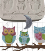 FPC Owl Family Sugarcraft Mould